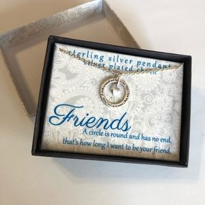 Sterling Silver Friends pendant necklace
